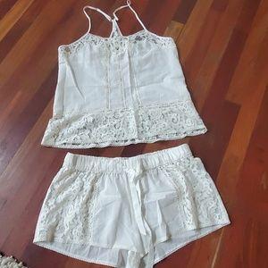 In bloom jonquil bridal white pajamas